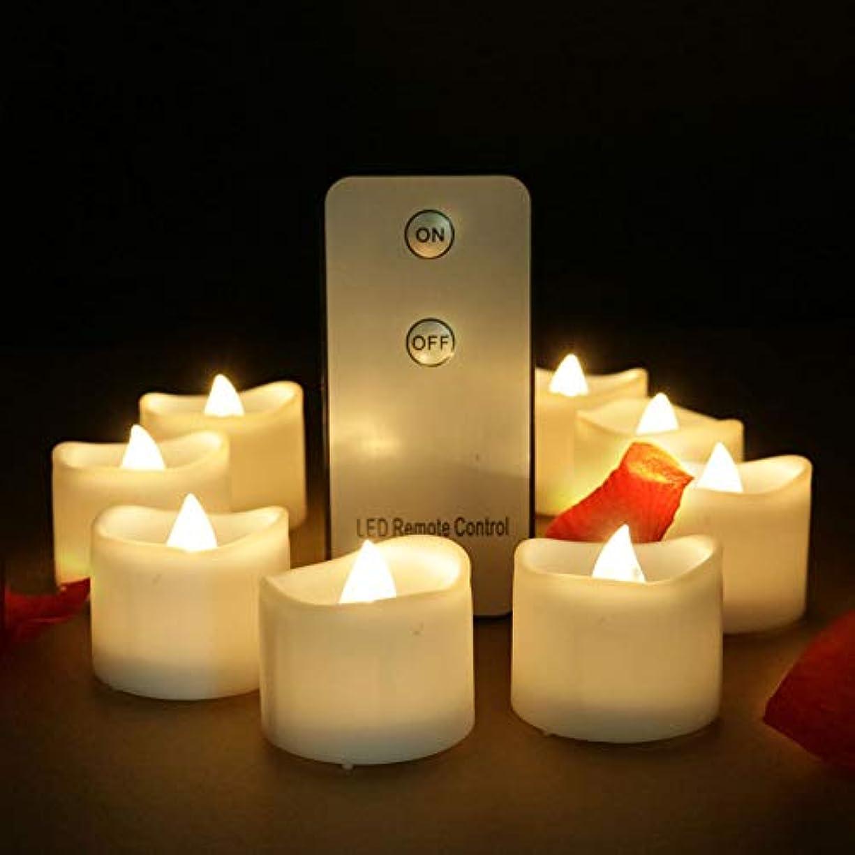 たらい直径雄弁キャンドルランプ12ピースledライト付きリモコン装飾ライトボタン電池式で提案結婚式結婚記念日クリスマス誕生日,WarmWhiteLight