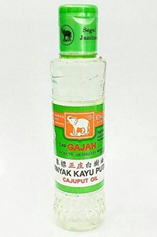 止まる釈義瞑想的Cap Gajah Minyak Kayu Putih - Elephant Brand Cajuput Oil, 120ml by Elephant Brand