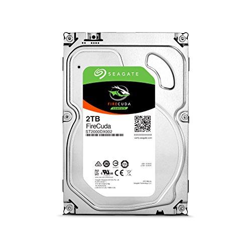 Seagate 内蔵ハードディスク 3.5インチ 2TB ゲーム向け FireCuda ( SSHDハイブリッド 8GB MLC NANDフラッシュ /5年保証 )正規代理店品 ST2000DX002