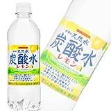 サンガリア 伊賀の天然水 炭酸水 レモン 500mlPET×24本入×(2ケース)