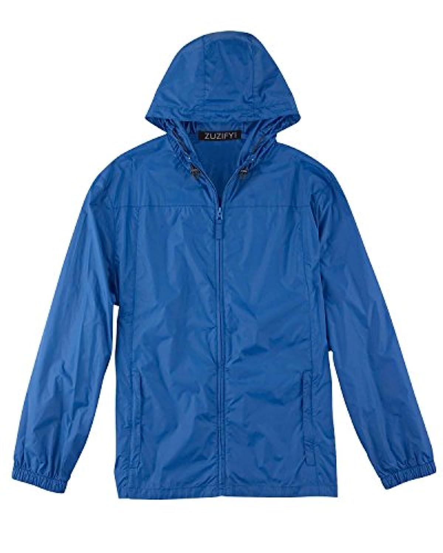 zuzifyメンズEssential Nylon Packableレインコート。qy0749 カラー: ブルー