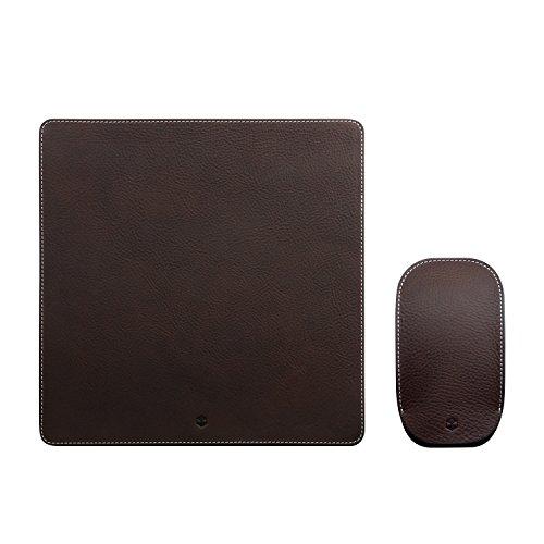 Design Magic Mouse ケース カバー&マウスパッド セット 本革 収納ポーチ Minerva Box Leather ブラウン マジックマウス専用 レザー 日本正規代理店品