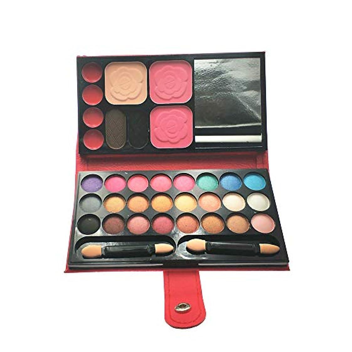 飢え紛争砂の携帯用多機能化粧品ケース,アイシャドウ、赤面、口紅、眉毛パウダー