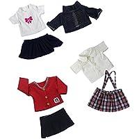 Dovewill 18インチアメリカンガールドール対応 ファッション  ジーンズ スカート ドレス 人形 服装 3セット入り