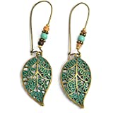 Niome 1 Pair Retro Bohemia Hollow Leaf Dangle Drop Earrings Ear Stud Women Lady Jewelry