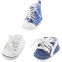 Lovoski 18インチアメリカンガールドール人形のため 3ペア キャンバス スニーカー シューズ 靴 玩具 3ペア