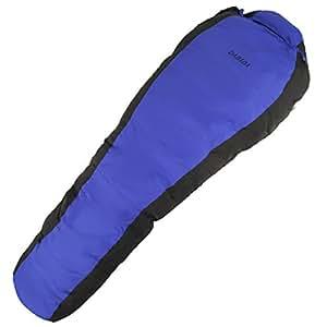 DABADA(ダバダ) 高級ダウン 寝袋 マミー型 シュラフ スリーピングバック [最低使用温度-25度](ブルー)