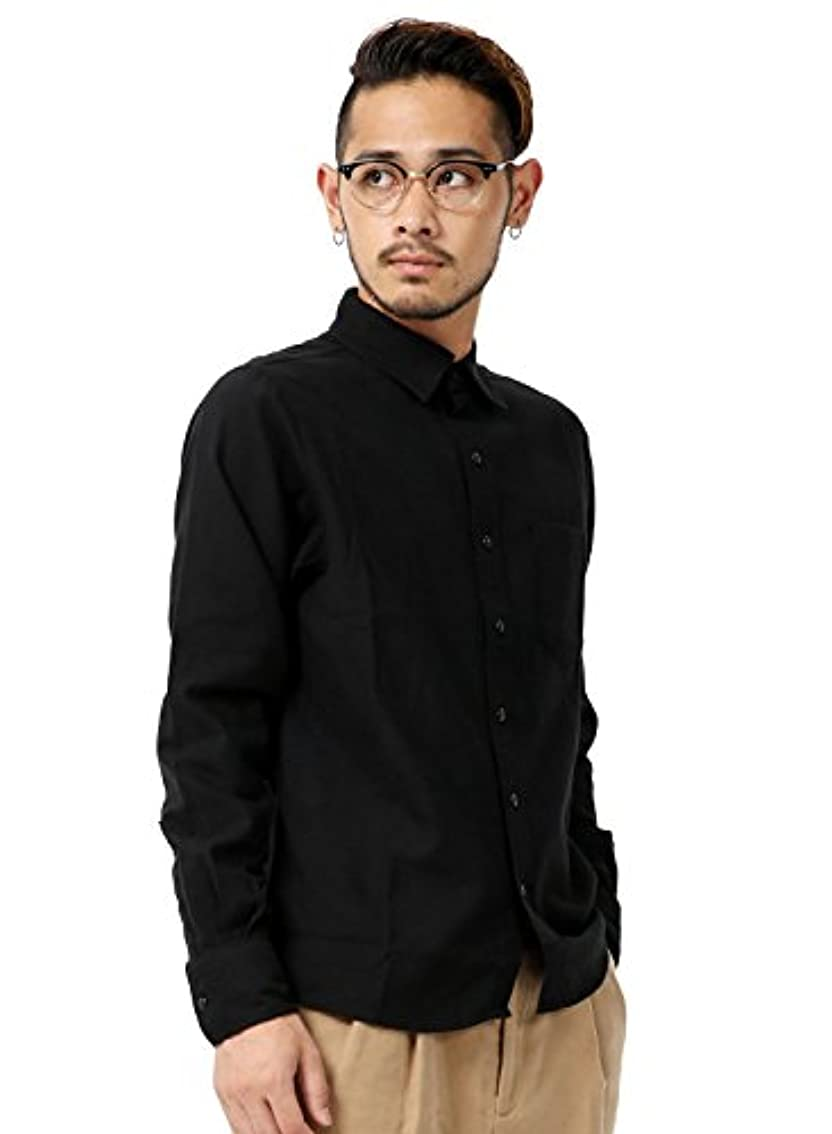 病気の連結するスケルトン(アールディ.ゴースト) 長袖 カジュアルシャツ ネルシャツ 無地 シャツ 起毛 メンズ