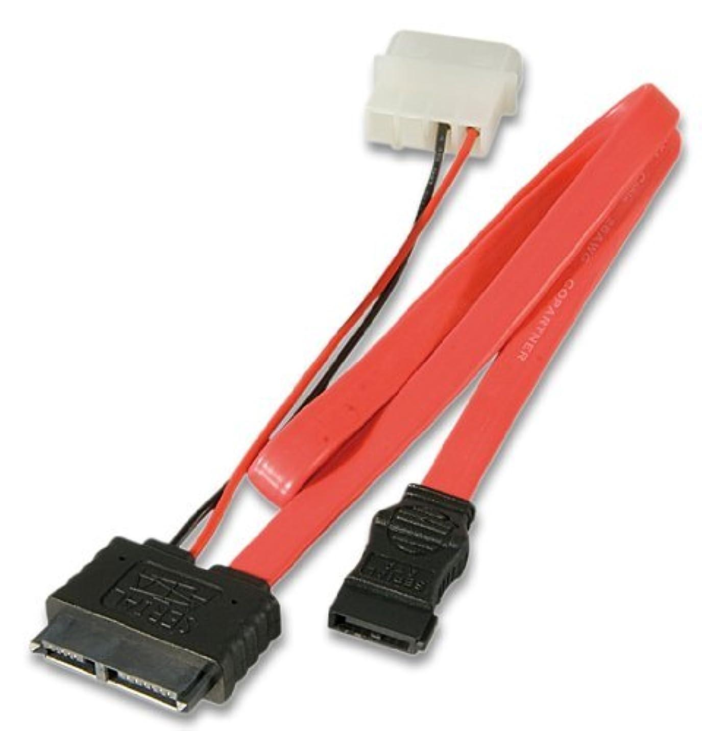 に変わる作曲する政治家のLindy 0.3m Slimline SATA Cable with 5.25 PSU Power Connection (33607) [並行輸入品]