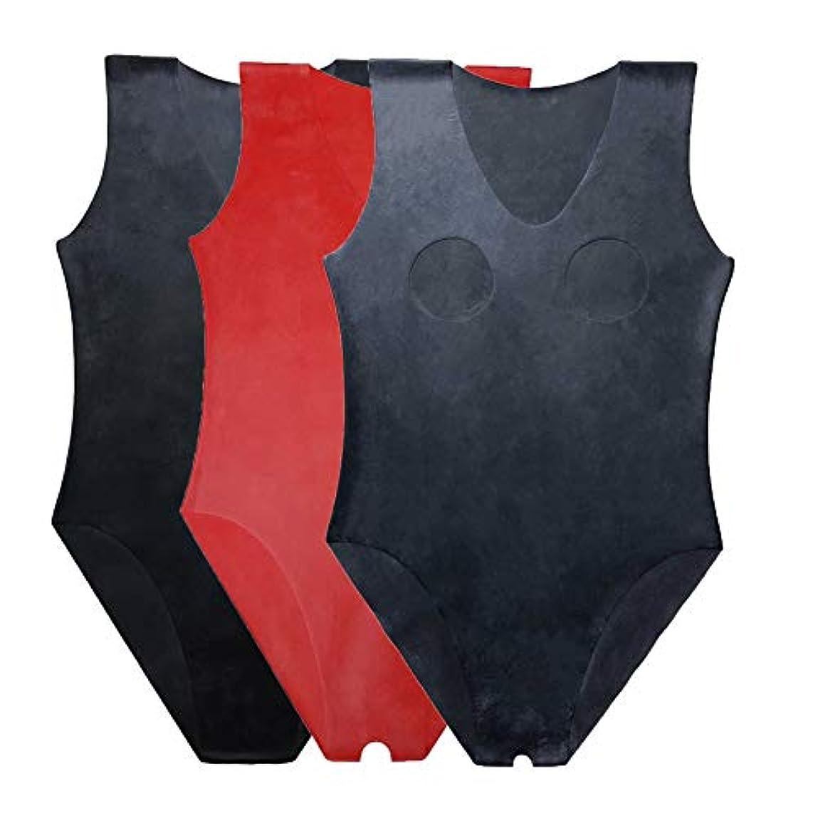 キャンプ落胆する柔らかい足EXLATEX ラテックス ボディスーツ 女性水着 ラテックス ラバー グミ レオタード ブラック カップレス ラテックス キャットスーツ
