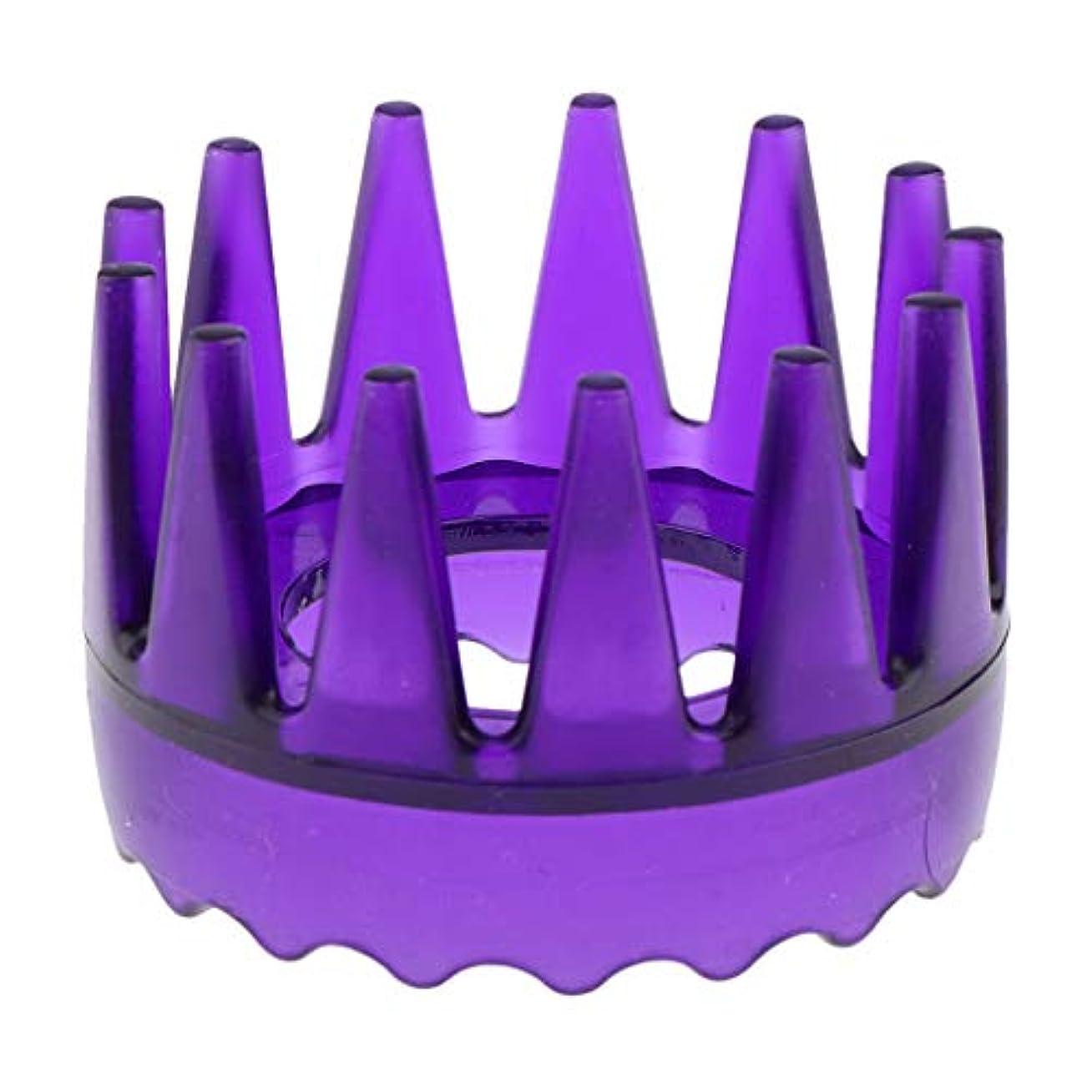 ストライク私のエスカレーターT TOOYFUL 頭皮マッサージブラシ ヘアブラシ ヘアコーム ヘアケア シャワー 洗髪櫛 滑り止め 全4色 - 紫