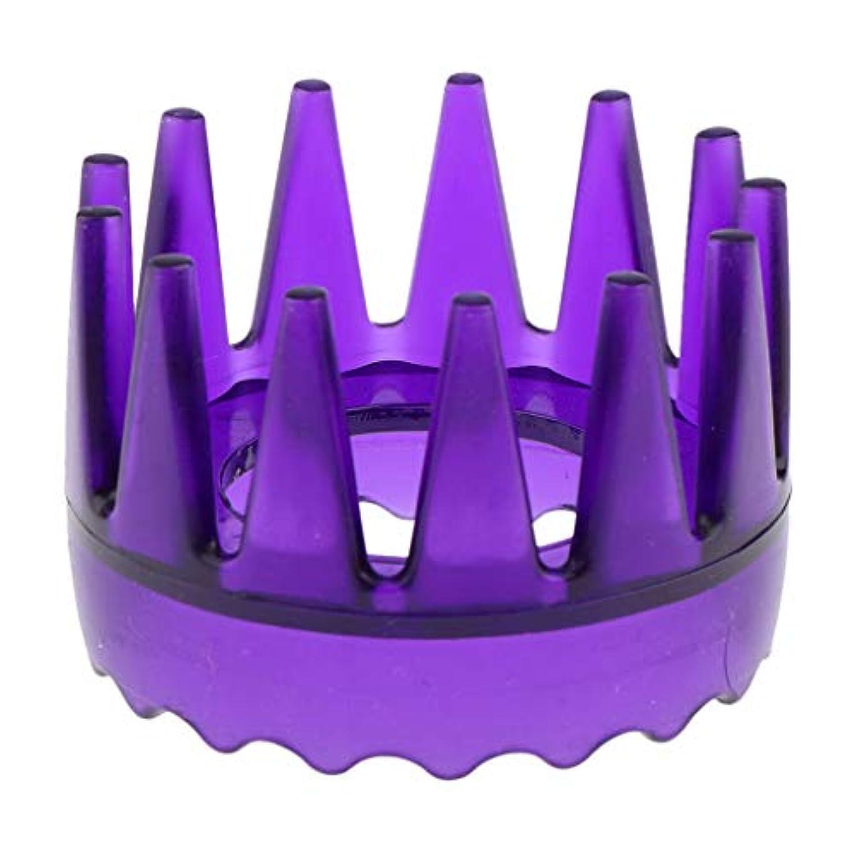 アロング最大T TOOYFUL 頭皮マッサージブラシ ヘアブラシ ヘアコーム ヘアケア シャワー 洗髪櫛 滑り止め 全4色 - 紫