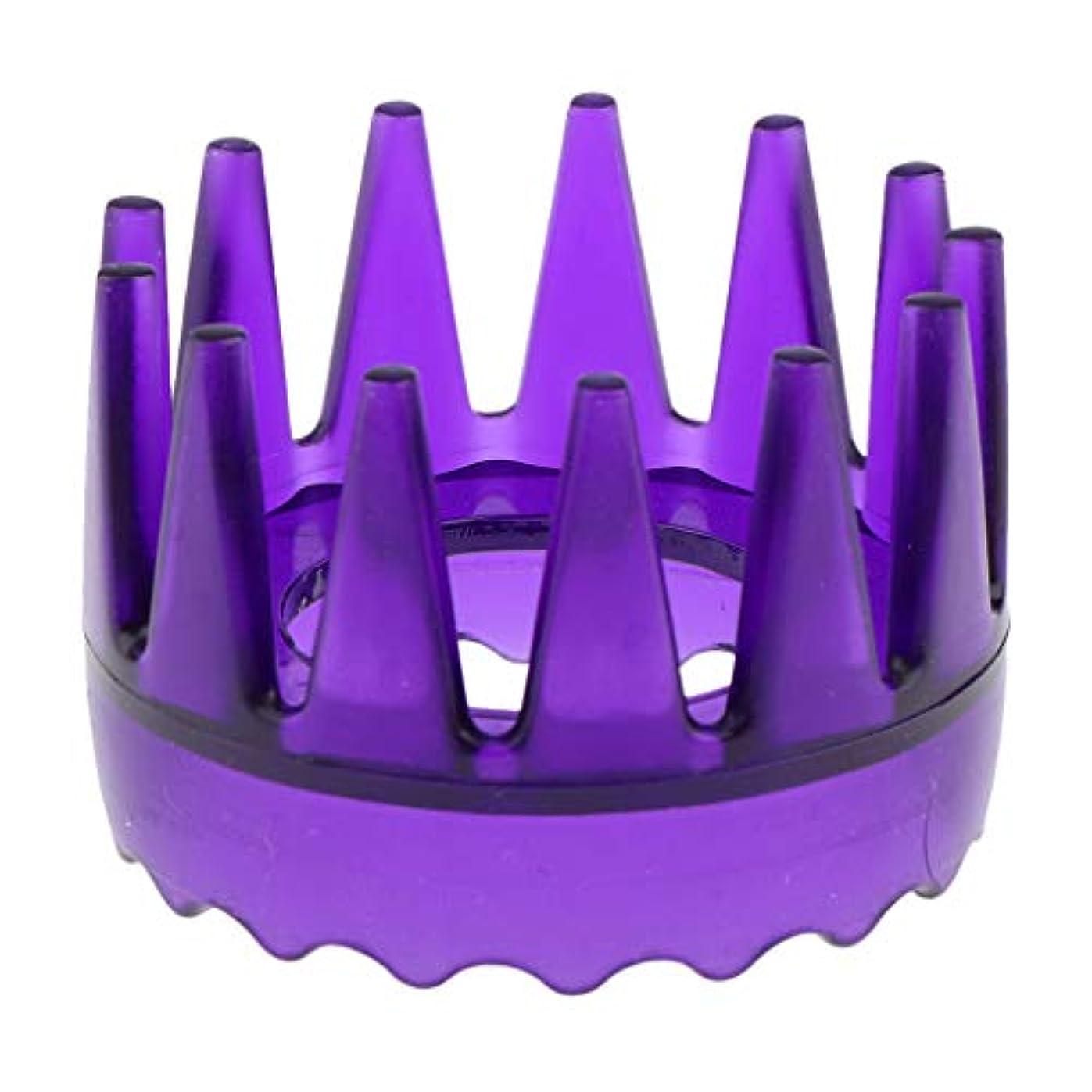 良いヘッジサイズT TOOYFUL 頭皮マッサージブラシ ヘアブラシ ヘアコーム ヘアケア シャワー 洗髪櫛 滑り止め 全4色 - 紫