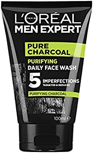L'Oréal Paris Men Expert Pure Power Charcoal Face Wash For Men, for Oily Skin and Breakouts, with Oak Char