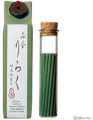 お香りらく 緑茶 お香15本入 6個セット
