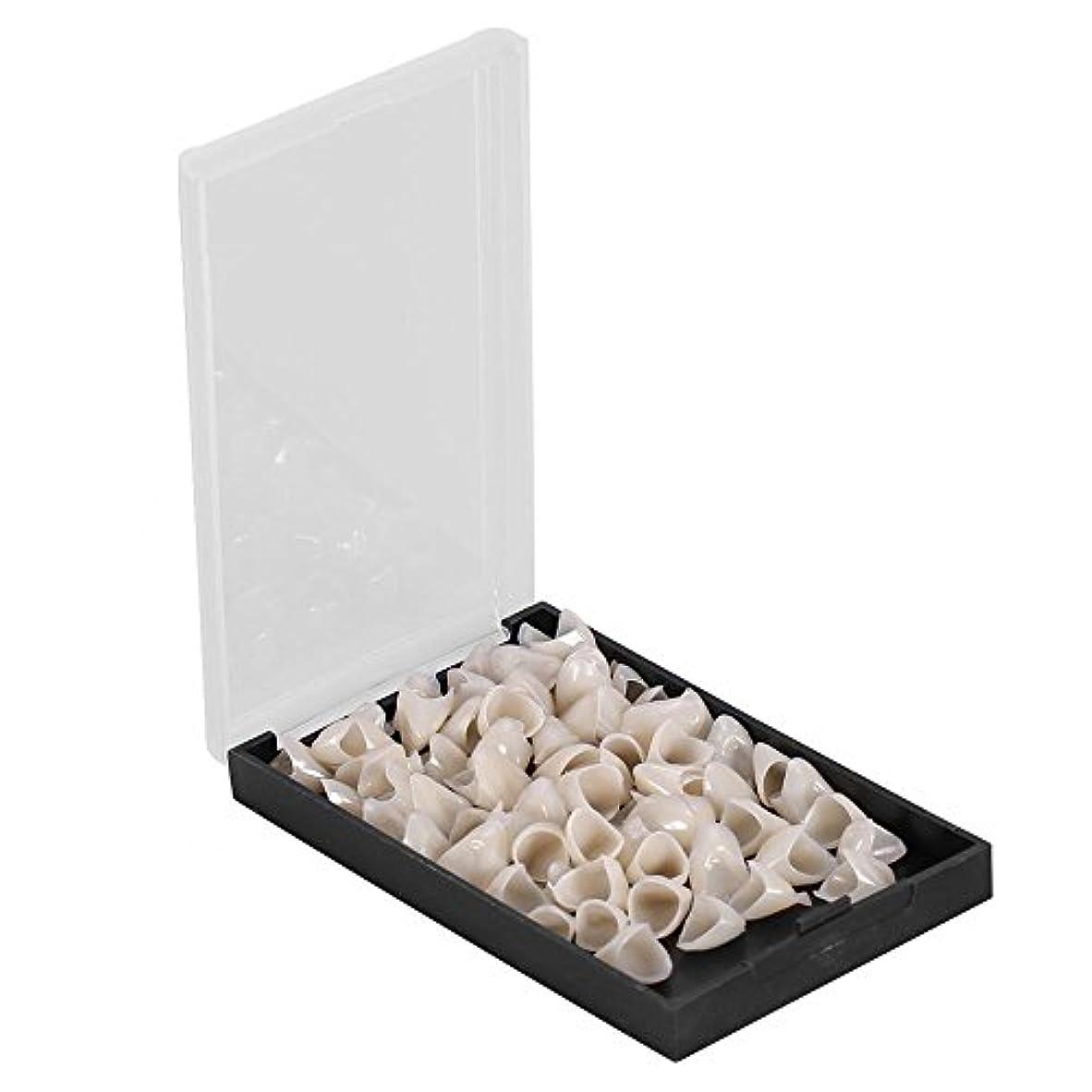 丈夫軽減鍔テンポラリークラウン - Delaman 樹脂、歯科用、1箱(50個)、前後/後歯 (Style : Anterior)