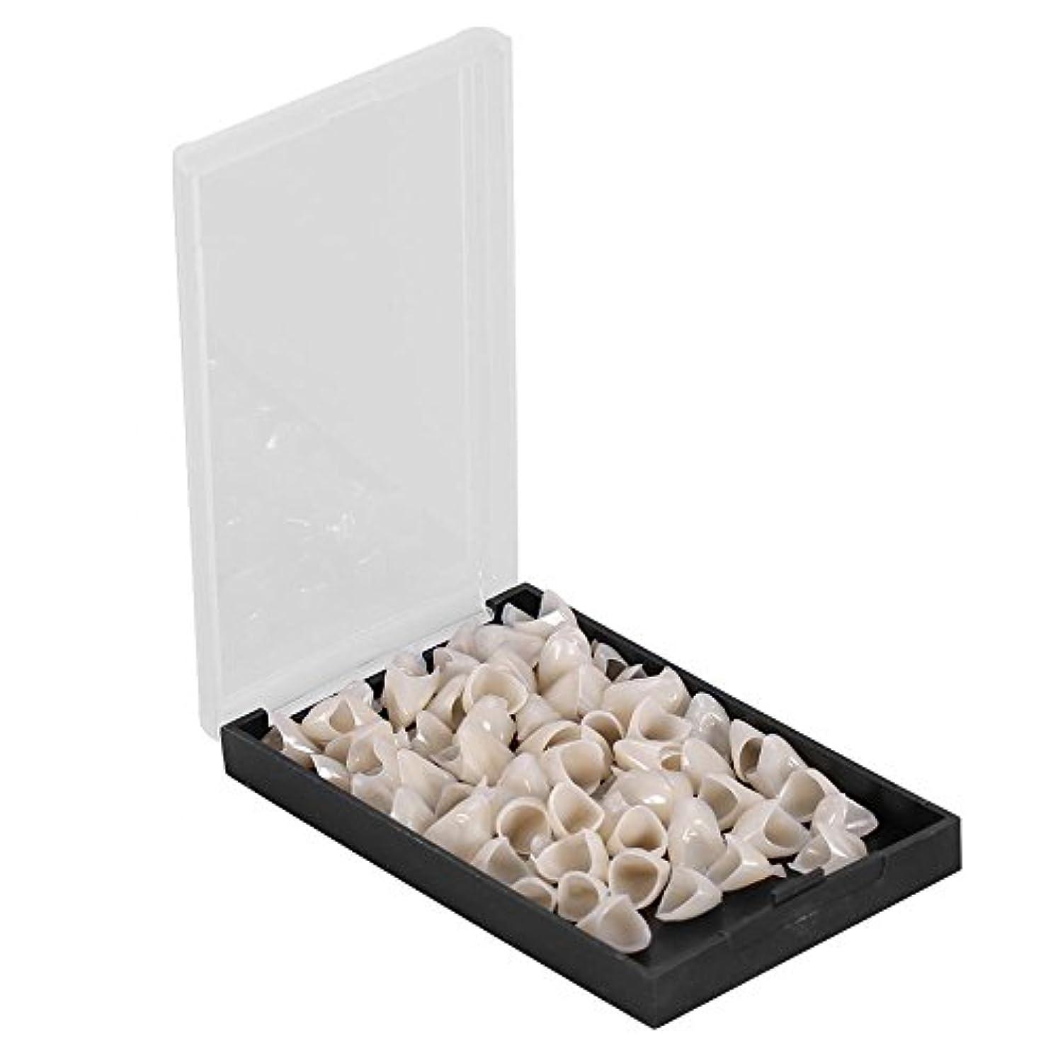 メンバー阻害するかんたんテンポラリークラウン - Delaman 樹脂、歯科用、1箱(50個)、前後/後歯 (Style : Anterior)