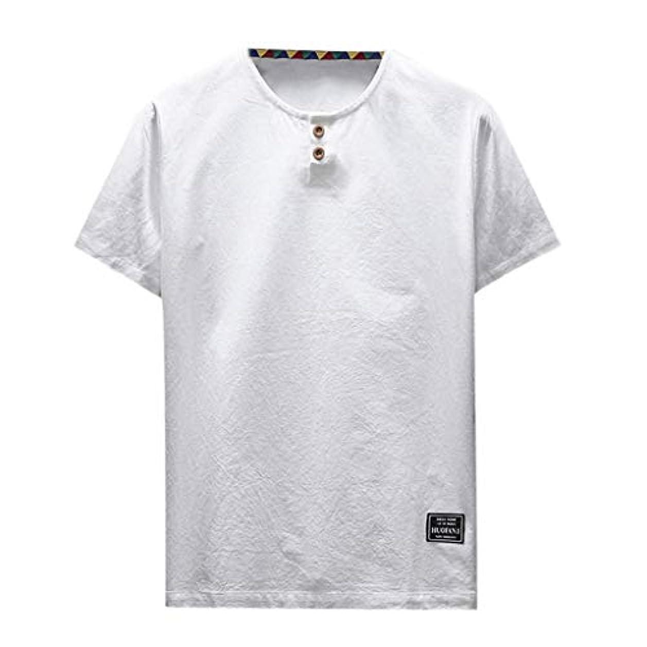 修理工休憩品種OD企画 Tシャツ メンズ 半袖 シャツ メンズ tシャツ メンズ おおきいサイズ 日系 綿麻 丸首 半袖シャツ シャツ 半袖 ブラウス トップス ゆるtシャツ 春夏節対応 おしゃれ ゆったり カットソー ファッション 夏服