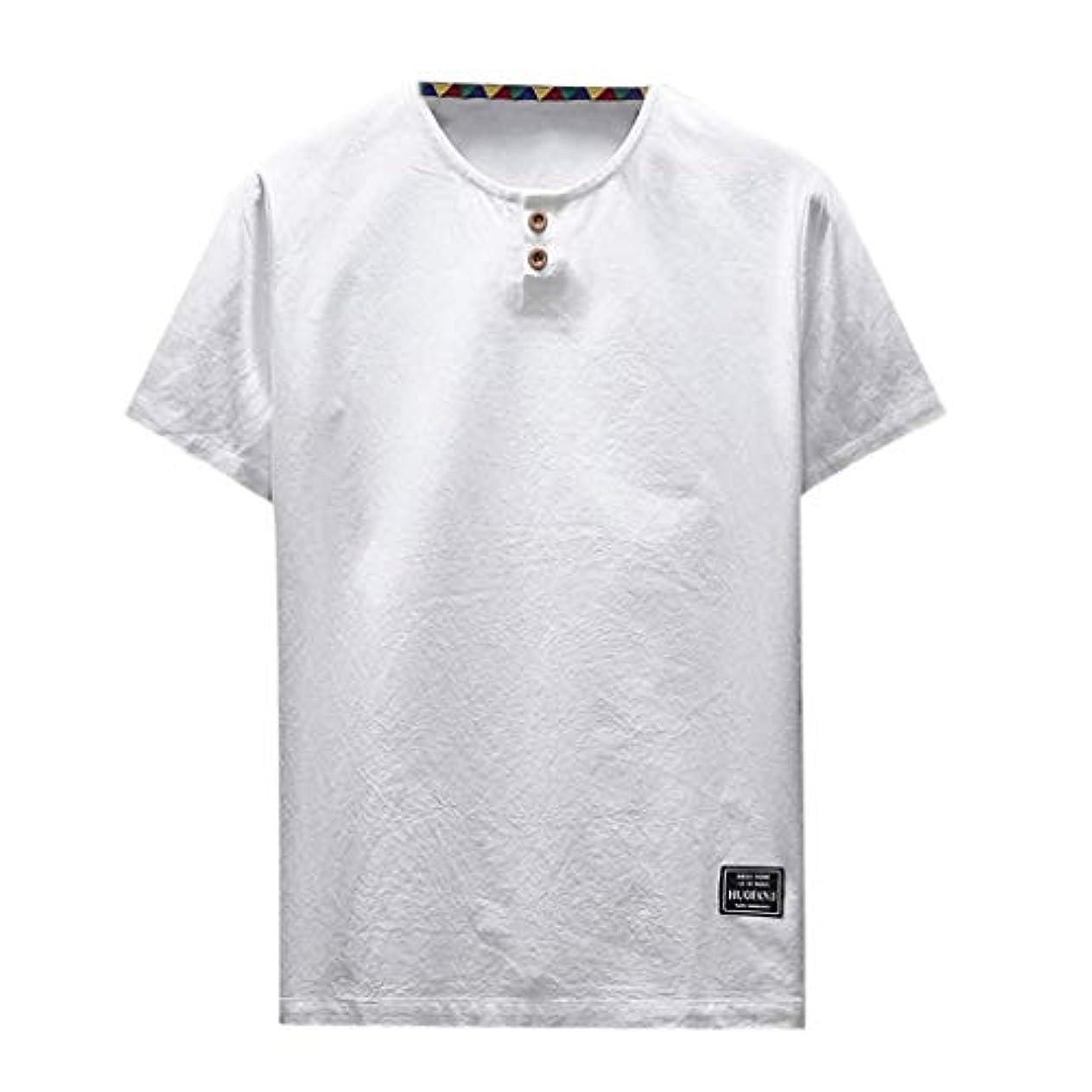 何歯ゆでるOD企画 Tシャツ メンズ 半袖 シャツ メンズ tシャツ メンズ おおきいサイズ 日系 綿麻 丸首 半袖シャツ シャツ 半袖 ブラウス トップス ゆるtシャツ 春夏節対応 おしゃれ ゆったり カットソー ファッション 夏服