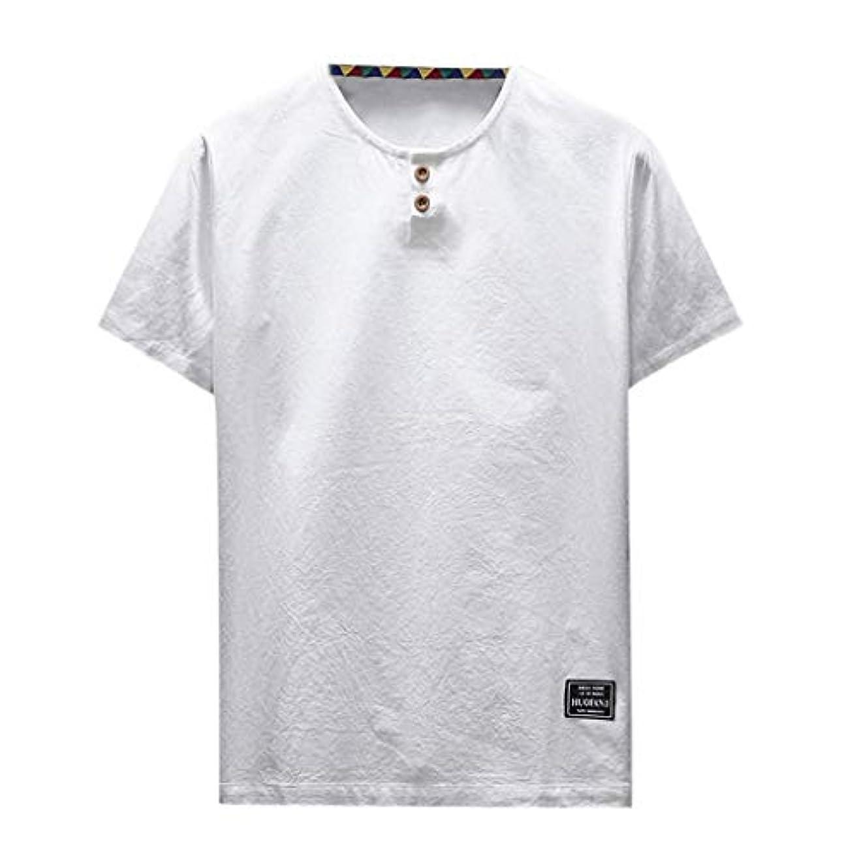 間欠勉強するブルOD企画 Tシャツ メンズ 半袖 シャツ メンズ tシャツ メンズ おおきいサイズ 日系 綿麻 丸首 半袖シャツ シャツ 半袖 ブラウス トップス ゆるtシャツ 春夏節対応 おしゃれ ゆったり カットソー ファッション 夏服