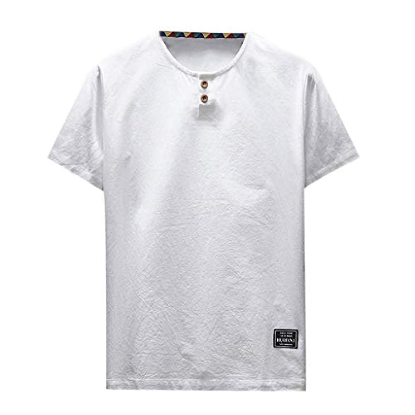 部分的に一晩ペットOD企画 Tシャツ メンズ 半袖 シャツ メンズ tシャツ メンズ おおきいサイズ 日系 綿麻 丸首 半袖シャツ シャツ 半袖 ブラウス トップス ゆるtシャツ 春夏節対応 おしゃれ ゆったり カットソー ファッション 夏服