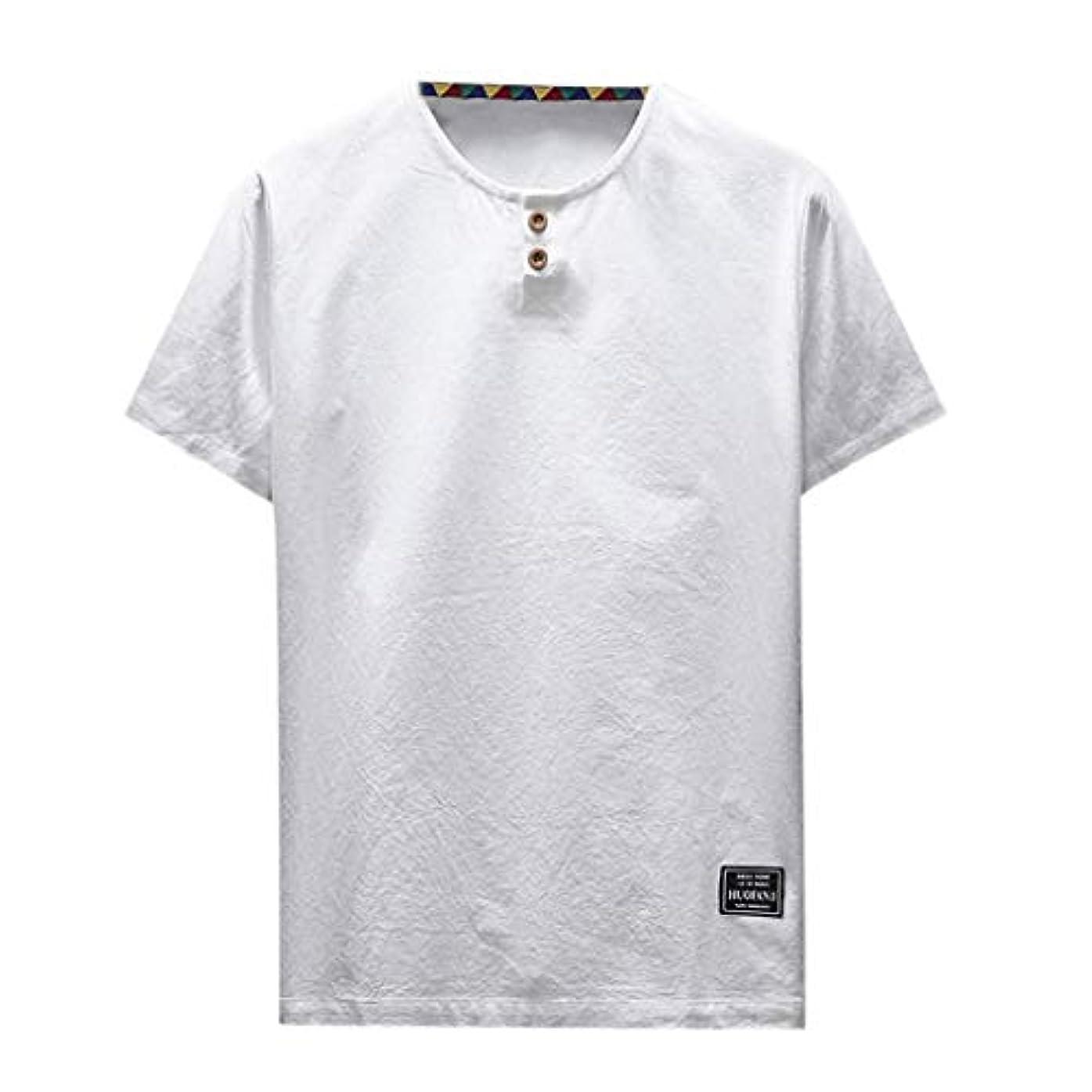 幻影衣類訴えるOD企画 Tシャツ メンズ 半袖 シャツ メンズ tシャツ メンズ おおきいサイズ 日系 綿麻 丸首 半袖シャツ シャツ 半袖 ブラウス トップス ゆるtシャツ 春夏節対応 おしゃれ ゆったり カットソー ファッション 夏服
