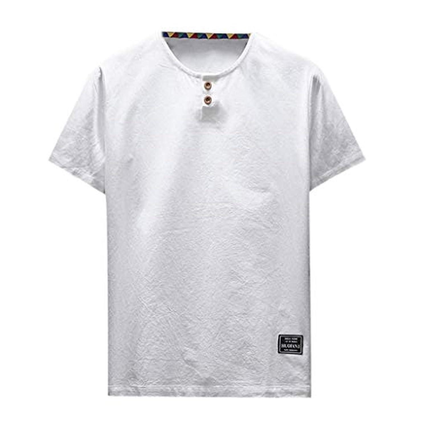 首相利点スライスOD企画 Tシャツ メンズ 半袖 シャツ メンズ tシャツ メンズ おおきいサイズ 日系 綿麻 丸首 半袖シャツ シャツ 半袖 ブラウス トップス ゆるtシャツ 春夏節対応 おしゃれ ゆったり カットソー ファッション 夏服