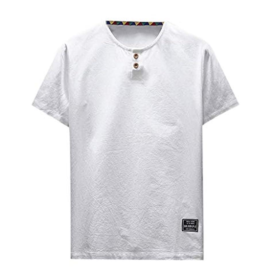 やけど十分に姪OD企画 Tシャツ メンズ 半袖 シャツ メンズ tシャツ メンズ おおきいサイズ 日系 綿麻 丸首 半袖シャツ シャツ 半袖 ブラウス トップス ゆるtシャツ 春夏節対応 おしゃれ ゆったり カットソー ファッション 夏服
