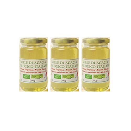 オーガニック生はちみつ(アカシア)3個セット(250g×3個)非加熱・無添加オーガニックアカシア蜂蜜(砂糖・水あめ不使用)