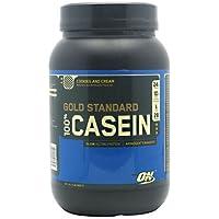 Optimum Nutrition 100%ゴールドスタンダード カゼインプロテイン 908g (Gold Standard 100% Casein 2 lbs) (クッキー&クリーム(Cookies & Cream))