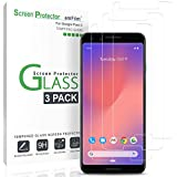 Pixel 3 Screen Protector Glass, amFilm Case Friendly Tempered Glass Screen Protector for Google Pixel 3 (3 Pack)