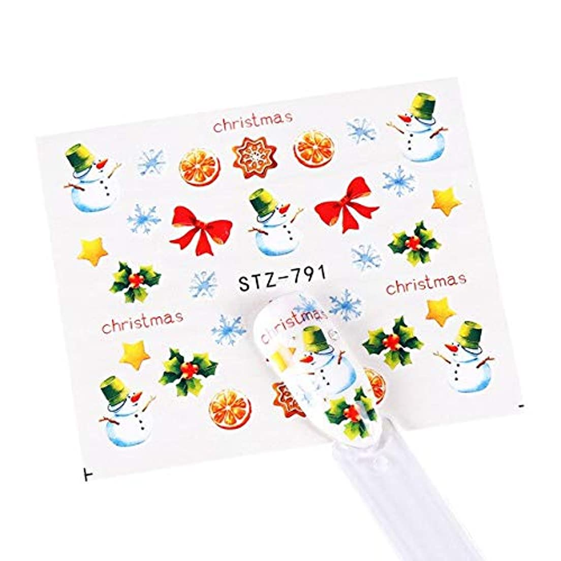 離れて市の花それからSUKTI&XIAO ネイルステッカー 1ピース水転写ネイルステッカーカラフルなスノーフレーク水デカールスライダー爪の装飾マニキュアラップツール