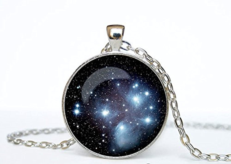 昴星団星簇簇はプレアデス星団星ネックレスネックレスネックレス銀河宇宙空間の中の芸術のためのher贈り物のためのhim