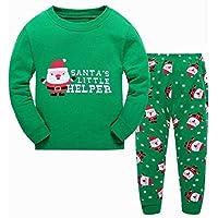 LUKEEXIN 2 To 7 Years Children Christmas Clothes Nightclothes Autumn Winter Boys Girls Pajamas Suits Kids Santa Claus Sleep Wear
