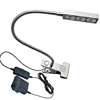 brillumin 3W LEDクランプクリップスポットライトwithプラグボタンブックランプ器具 Shell color: Silver TP-FP-01-02WS