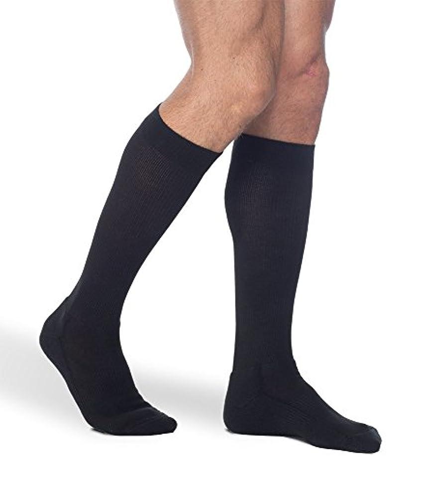 万歳証明する柱Sigvaris Mens Cushioned Cotton Support Therapy Socks 15-20mmHg : Size A Black by Sigvaris