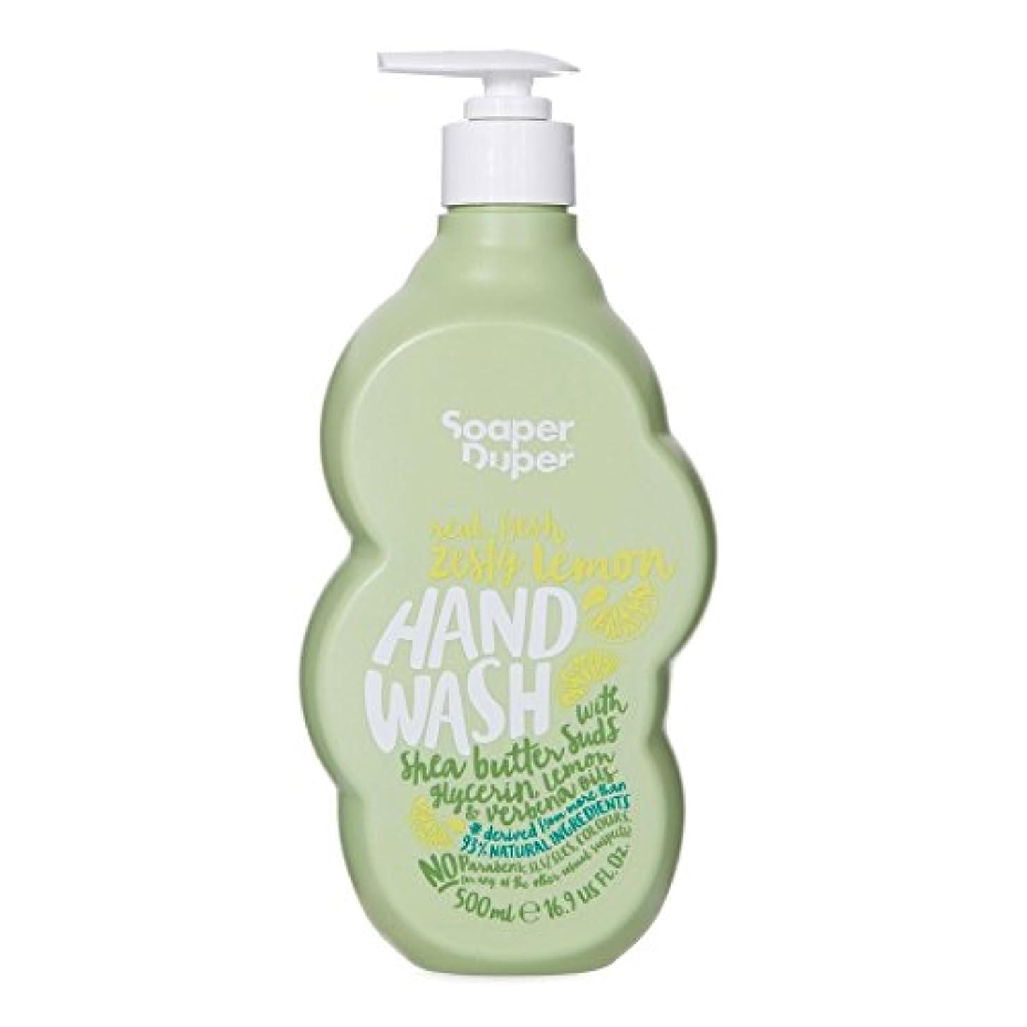 嫌がらせ短くする釈義Soaper Duper Miracle Zesty Lemon Hand Wash 500ml - の大型の奇跡ピリッとレモンのハンドウォッシュ500ミリリットル [並行輸入品]