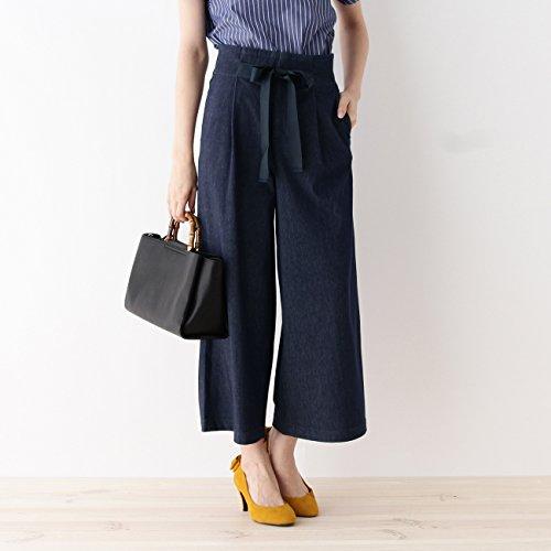 (クチュールブローチ) Couture Brooch デニムジャージーハイウエストワイドパンツ 50863152 40(L) ブルー系(095)