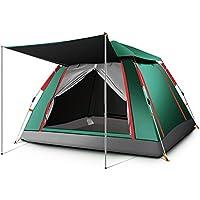 テント3-4人ポップアップ自動インスタント家族テント厚く防雨軽量ドーム屋外キャンプテント (色 : Green, サイズ さいず : 215X215X142cm)