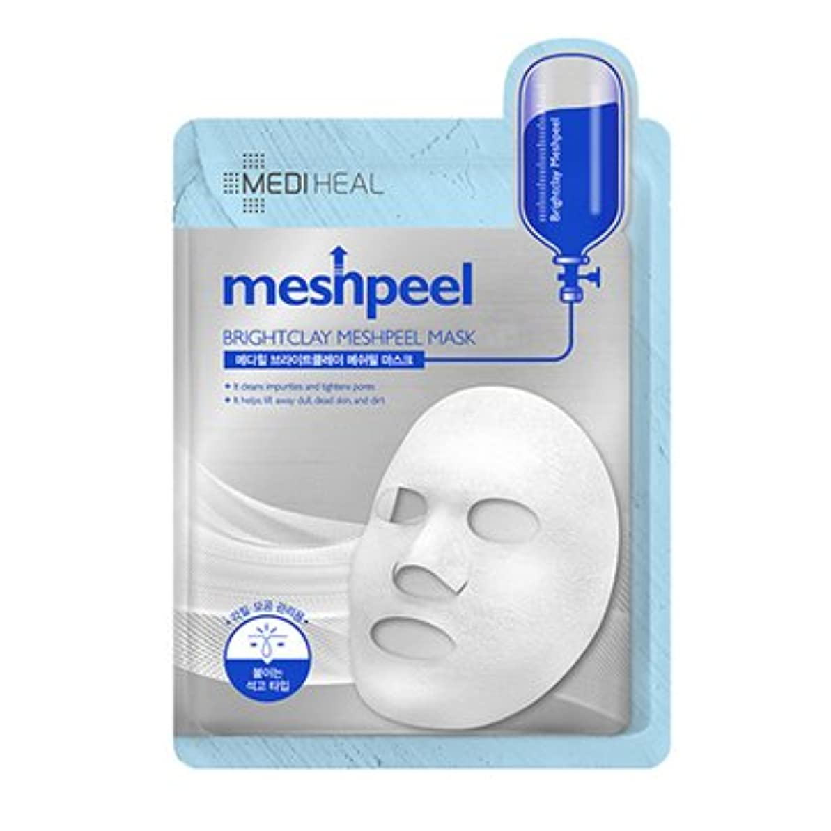 プランテーション希少性しなやか[New] MEDIHEAL Brightclay Meshpeel Mask 17g × 10EA/メディヒール ブライト クレイ メッシュ ピール マスク 17g × 10枚