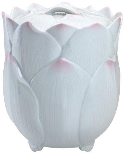 西日本陶器 有田焼 骨壺 ピンク蓮花 7寸