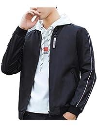 maweisong メンズベーシッククルーネックカラーブロックストレッチTシャツトップス