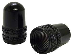 Ruler(ルーラー) アルミバルブキャップ 米式バルブ用 ブラック LY-NC-USBK