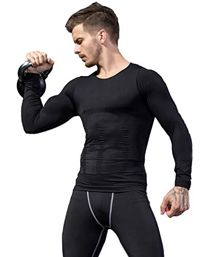 加圧シャツ メンズ 長袖 ラウンドネック スポーツシャツ 加圧インナー コンプレッションウェア ダイエット 加圧式脂肪燃焼 スポーツウェア 補正下着 姿勢矯正