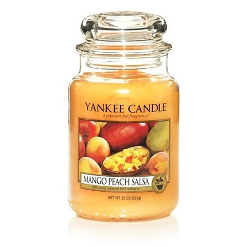 請求可能ピカリング覚醒Yankee Candle 22-Ounce Jar Scented Candle, Large, Mango Peach Salsa by Amazon source [並行輸入品]
