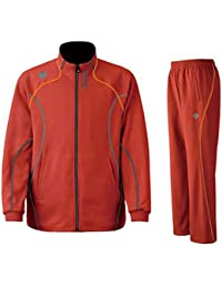 DESCENTE(デサント) メンズ トレーニング ジャケット?パンツ上下セット レッド×オレンジ DTM1910B-DTM1910PB-TRO (S)
