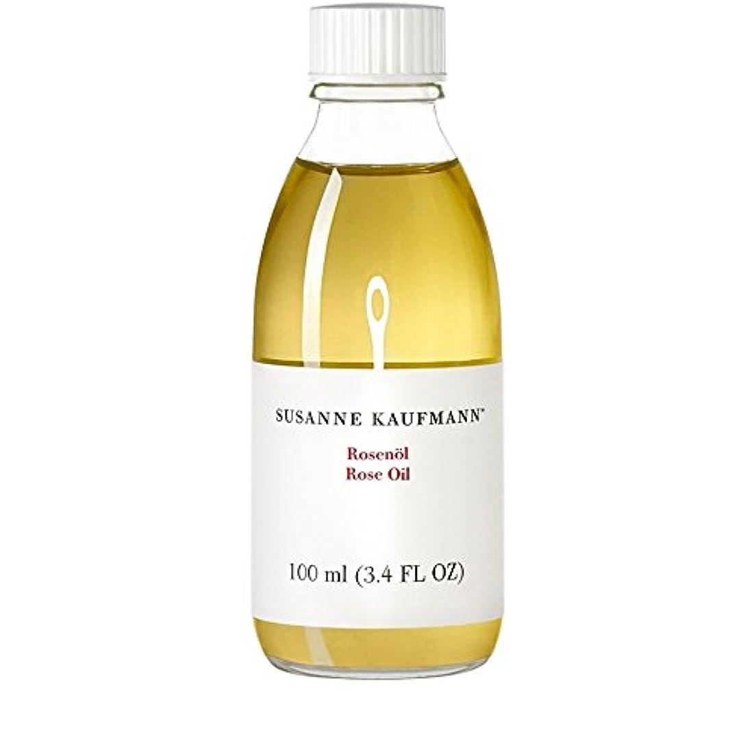 オフェンスポンドゴミスサン?カウフマンオイル100ミリリットルをバラ x4 - Susanne Kaufmann Rose Oil 100ml (Pack of 4) [並行輸入品]