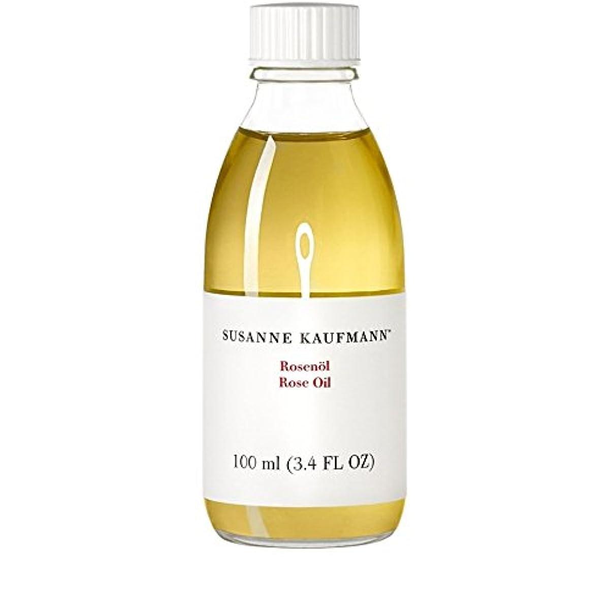 月曜ワット田舎者スサン?カウフマンオイル100ミリリットルをバラ x4 - Susanne Kaufmann Rose Oil 100ml (Pack of 4) [並行輸入品]