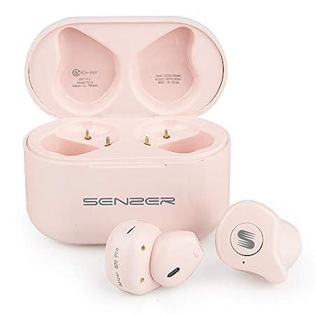【3/20まで過去最安】Senzer ファッション重視、インナーイヤー型の完全ワイヤレスイヤホン Q20 2,500円送料無料!【ピンク】