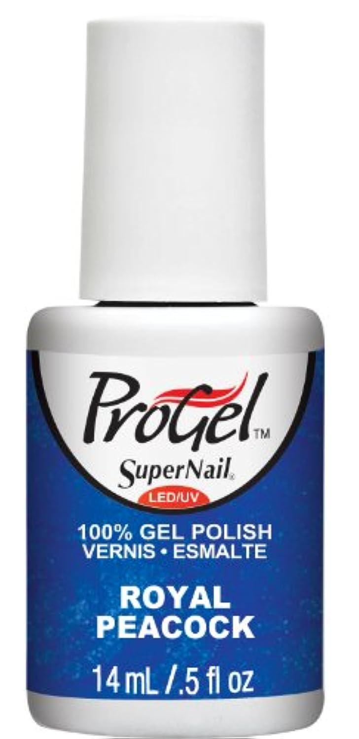 砂の晩ごはん路面電車SuperNail ProGel Gel Polish - Royal Peacock - 0.5oz / 14ml